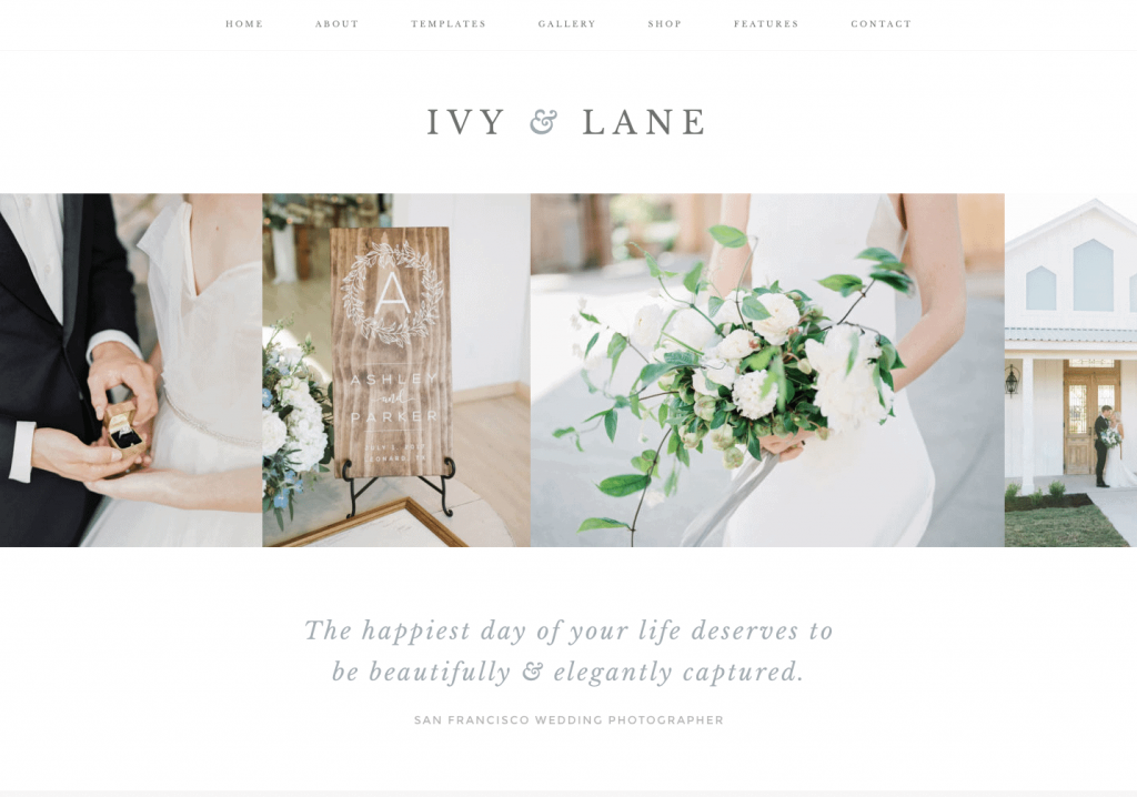 This is one of many feminine WordPress themes by 17th Avenue Designs. This one is called Ivy.