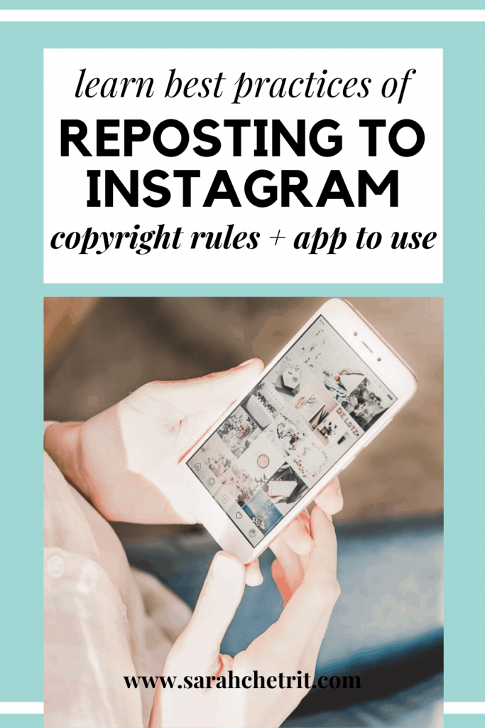 pinterest graphic for reposting on instagram post