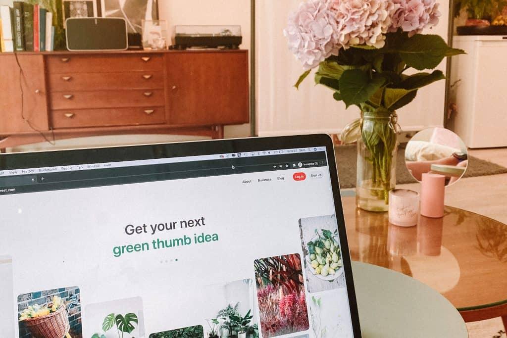 Pinterest tips for beginners: Pinterest homescreen