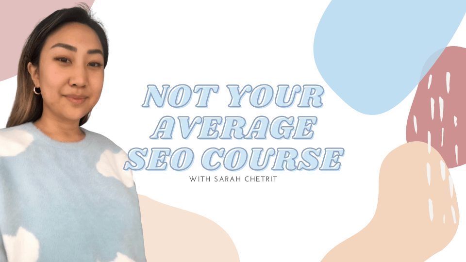 Photo of not your average seo course for bloggers, which is one of the best Black Friday deals for bloggers