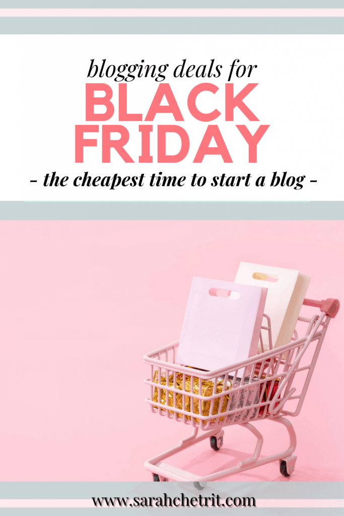 pinterest graphic about the blog post, black friday deals for bloggers