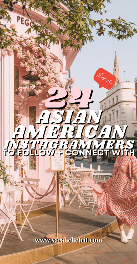 Pinterest graphic for Asian American Instagram Influencers