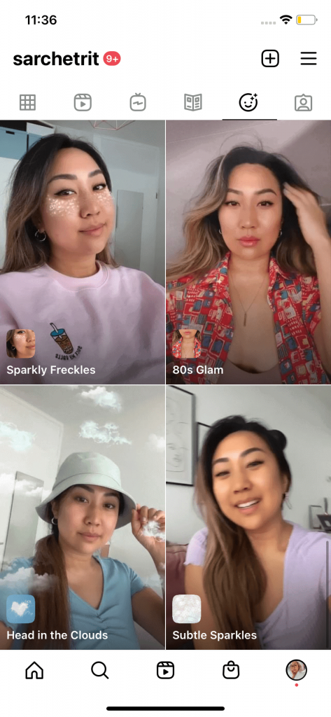 Instagram story filters made by Instagrammer Sarah Chetrit (@sarchetrit) for BIPOC